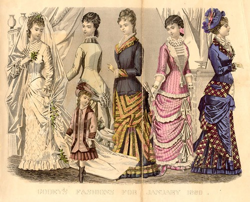Bride's, House, Dinner, Evening & Walking Dresses, January 1880