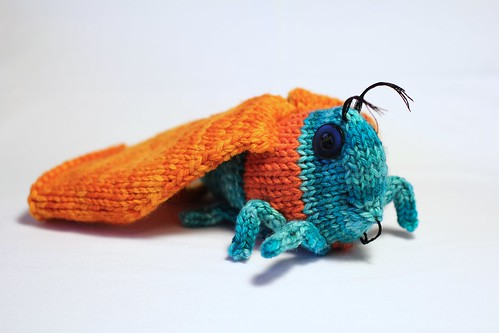Lavender-Filled Knitted Moth