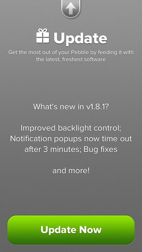 Pebble iOS App, update found !