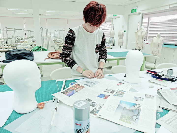 typicalben doing prototype at MDIS SCHOOL OF FASHION & DESIGN