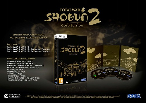 Shogun 2 Gold Edition European Contents