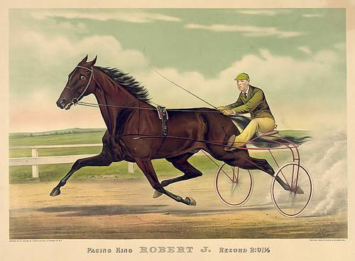 020-Imagen carreras caballos trotones-Library of Congress