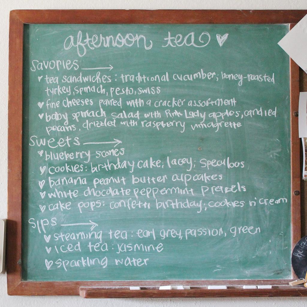 birthday tea menu