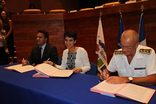 Signature de la convention Egalité f-h à La Réunion
