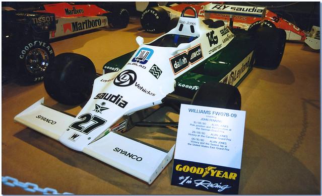 1980 Alan Jones Williams Ford FW07B F1.1995 Autosports International Birmingham NEC.