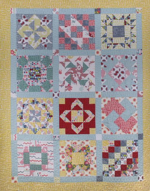 Elvy Crafts Jellyroll Sampler Quilt Finished