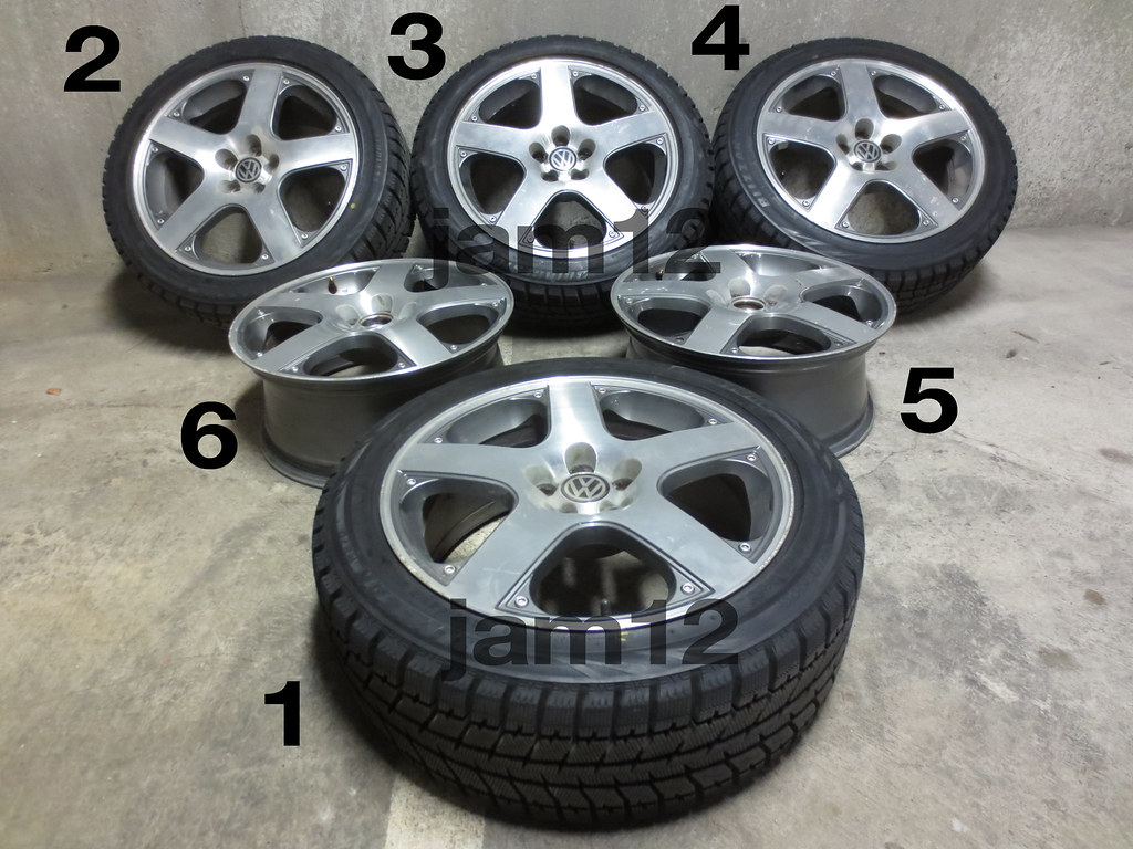 vwvortex com   santa monica wheels   like new blizzak ws70 snow tires