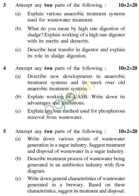 UPTU: B.Tech Question Papers -TCA-602-Bio Technology of Waste Treatment