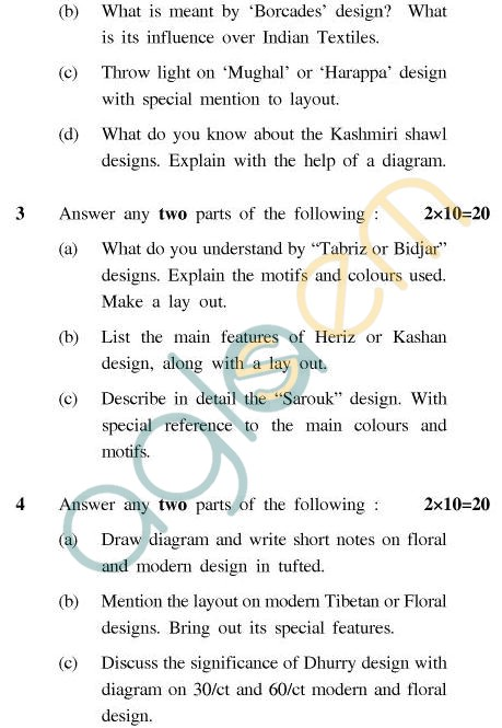 UPTU B.Tech Question Papers - CT-802(N) - Carpet & Textile Designing-III
