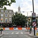 Greenwich and the Olympic traffic barriers