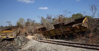 Derailment along the Tazara Railway line in Tanzania