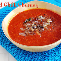 Red chilli-chutney recipe