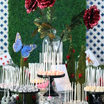 Cake Pop Display with Fun Dramatic Decor
