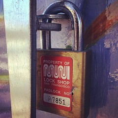 Muni lock at Duboce and Church