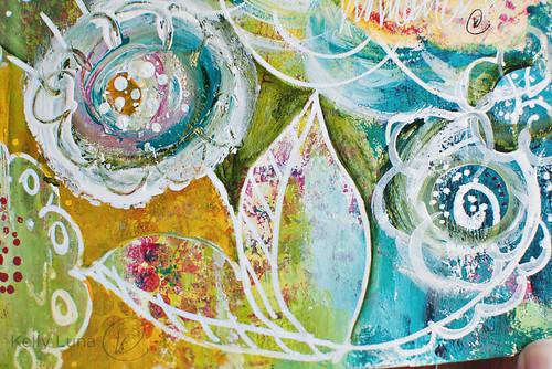 ArtJournal-doodle paint flowers-detail