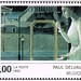 Poststamp with a fragment of the Paul Delvaux's 'Rendez-vous Ephese' (1992)