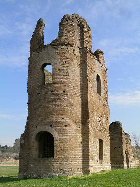 Circus of Maxentius, the right tower, erected between 306-312, Via Appia, Rome
