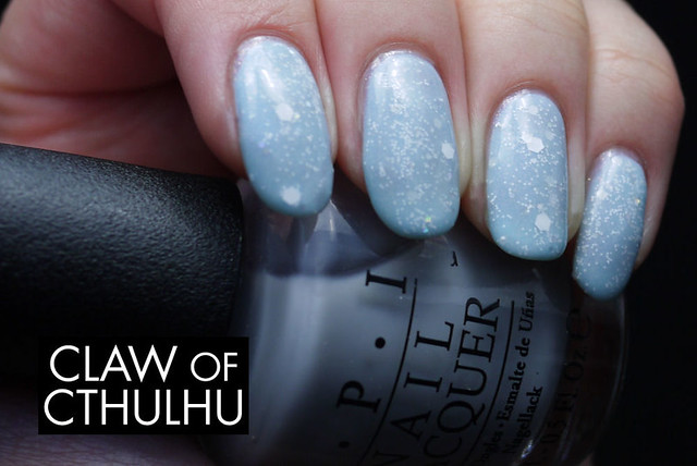 Hoof Polish Just One More Time jelly sandwich (over Sinful Colors Cinderella)