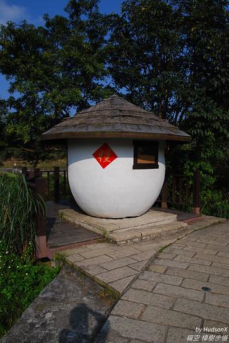 穀倉造型涼亭
