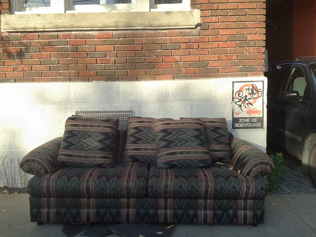 Hipster Chair Chilling in Trendy Plateau Mont Royal