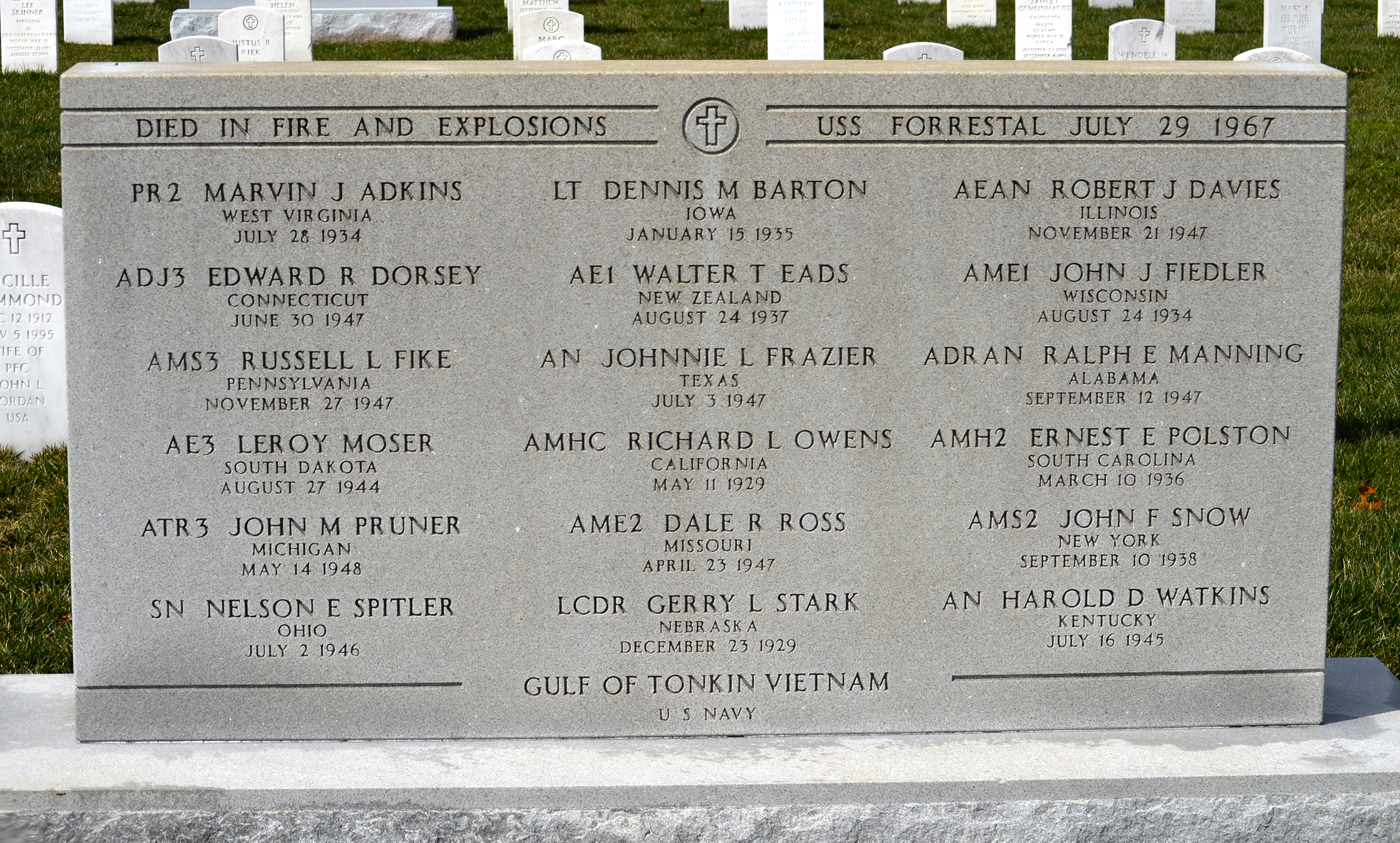 USS Forrestal group burial site - Arlington National Cemetery - 2013-03-15