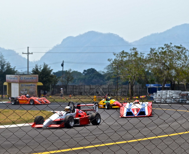 Car racing and race track in guatemala