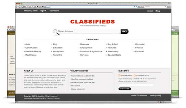 wordpress classified theme classifieds templatic