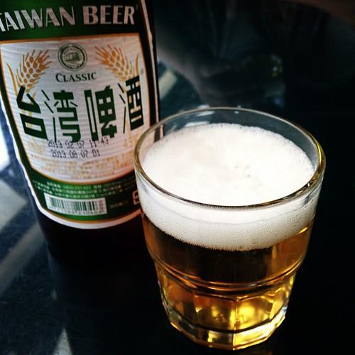 温泉の後はビールにて(⌒▽⌒)