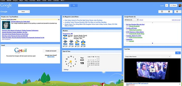 iGoogle screenshot