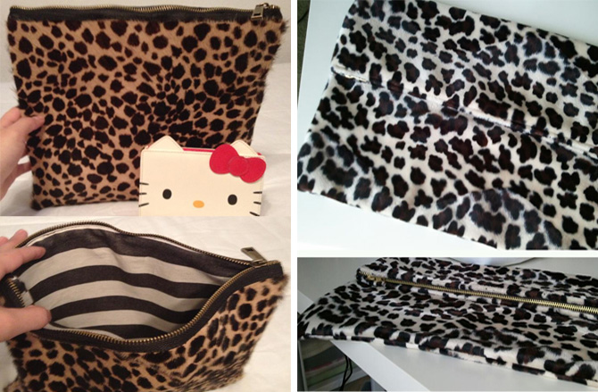DIY animal print clutches