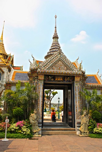 entering the grounds of the grand palace