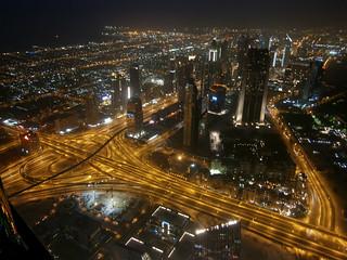 1st Interchange et buildings le long de la Sheikh Zayed Road