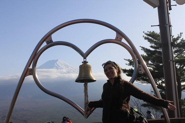 On Mt. Tenko, Fuji overlook.