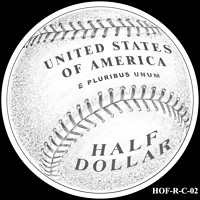 Baseball coin design