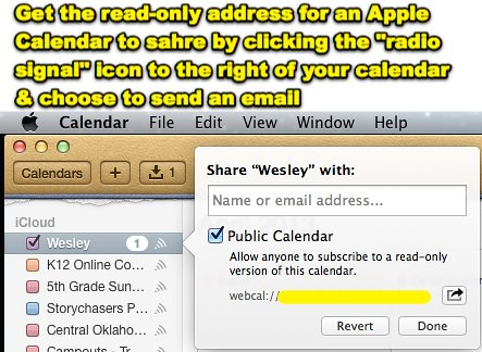 Share Apple Calendar Subscription