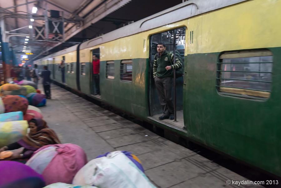 Поезд в Индии, вагон