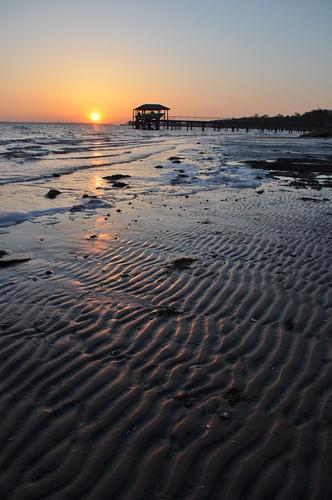 ocean sunset sun beach sunrise south charleston carolina
