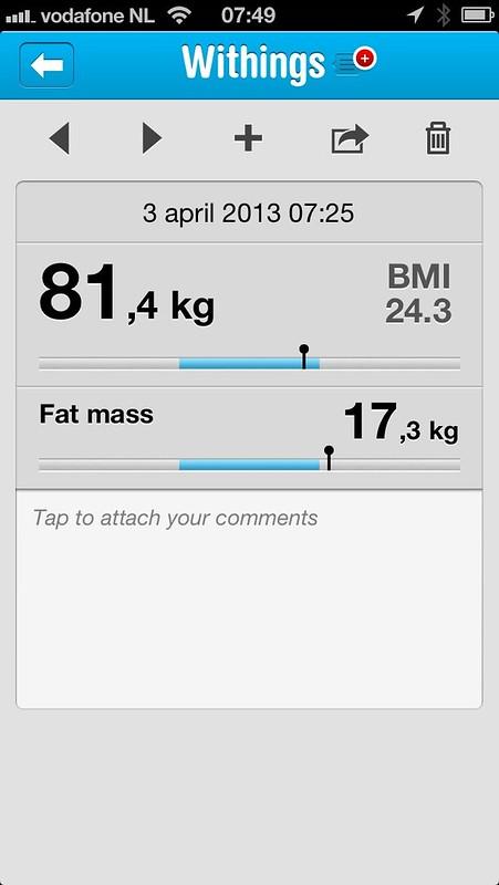 Gewicht, going down...