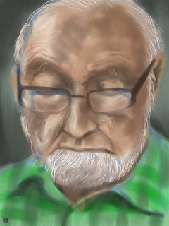 My father, painted on iPad with Procreate