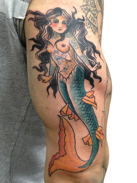 mermaid all tatted up