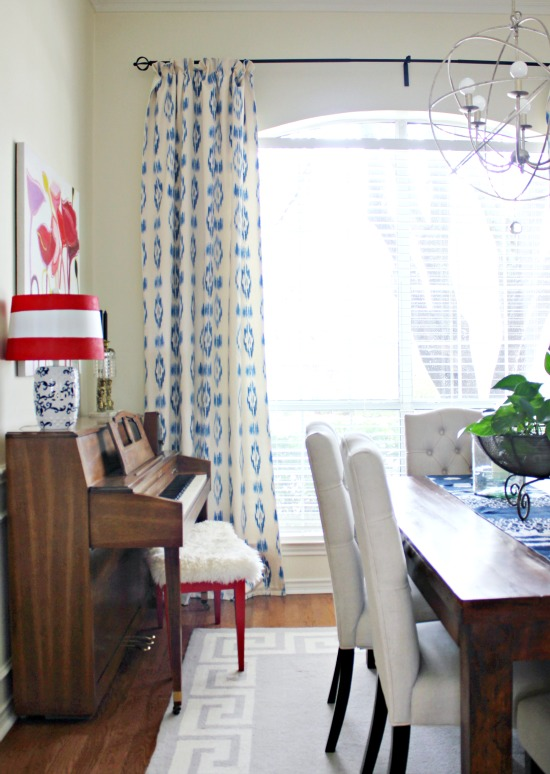 Hi Sugarplum | Dining Room Drapes