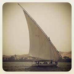 A felucca we are on during our 3 day trip on the nile!