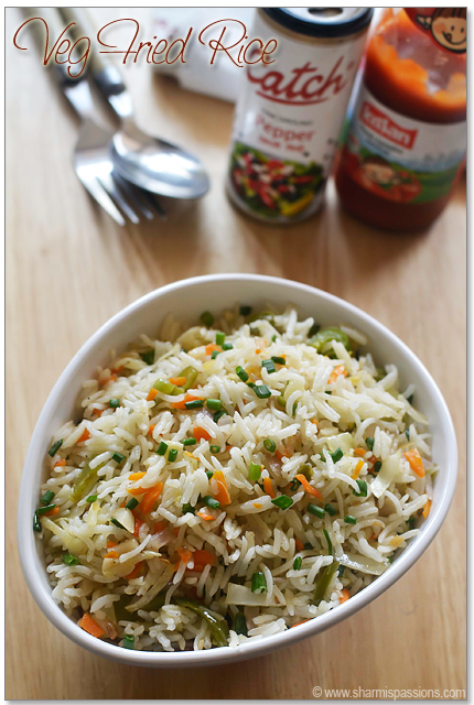 Veg fried rice recipe chinese vegetable fried rice how to make veg fried rice recipe ccuart Image collections