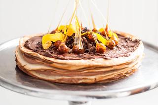 banana nutella crepe cake