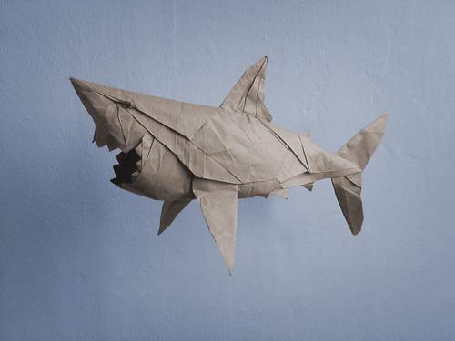 Origami Great White Shark Diagram