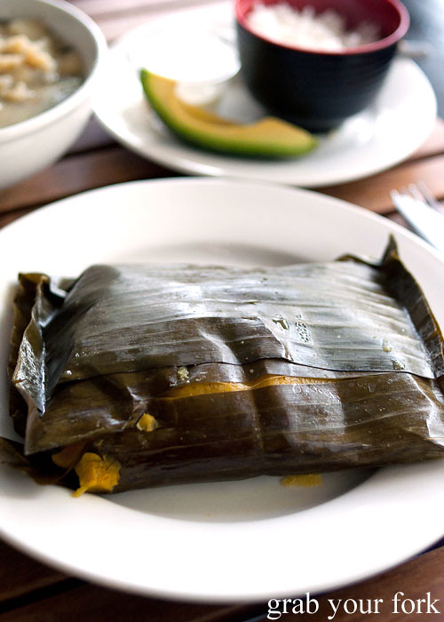 Tamales at Colombia Organik Sydney