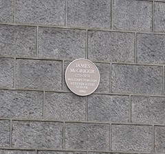 Photo of James McGrigor yellow plaque