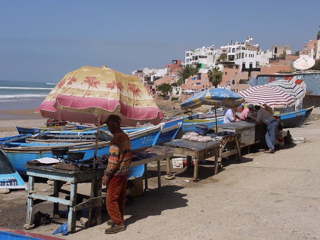 Fishing stall in Taghazout