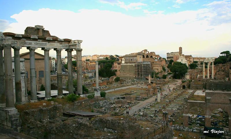 Antiguas ruinas del Imperio romano, Roma