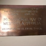 English Electric Works Plate